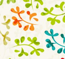Floral pattern with cute leaves Sticker