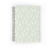 Vintage wallpaper. Delicate veil-like pattern. Spiral Notebook