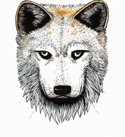 One Pack Wolf Sticker