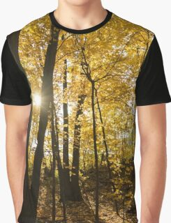 Golden Forest Sunburst  Graphic T-Shirt