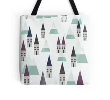 VILLAGE ON WINTER Tote Bag
