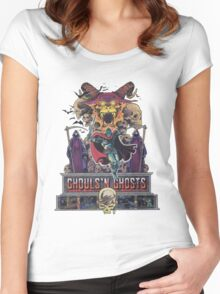 GHOULS'N GHOSTS Women's Fitted Scoop T-Shirt