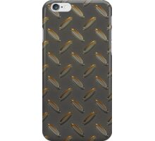 Metal - checker plate gold reflections iPhone Case/Skin