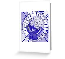 Futuristic abstract Greeting Card