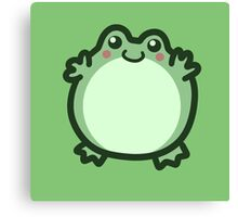 Cute Round Frog Canvas Print
