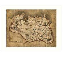 Skyrim map Art Print