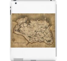 Skyrim map iPad Case/Skin