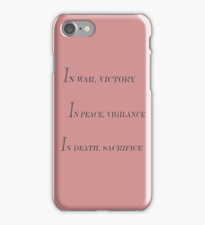 Grey Warden Slogan iPhone Case/Skin