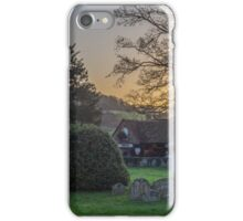 Hambleden churchyard and garage, Buckinghamshire iPhone Case/Skin