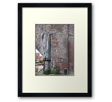 Manchester Canal Wall Framed Print