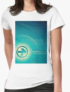 Vintage abstract design for all. Womens Fitted T-Shirt