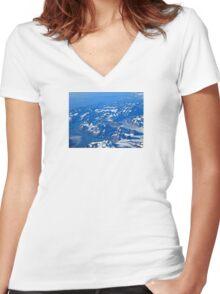 Glacier Women's Fitted V-Neck T-Shirt