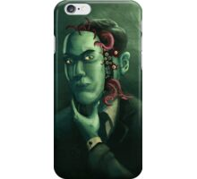 H.P. Lovecraft (w/background) iPhone Case/Skin