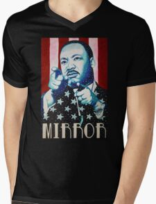 Martin Luther King Look in the Mirror T-Shirt Mens V-Neck T-Shirt