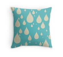 Drip Drip Drip - Pattern - Raindrop Throw Pillow