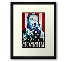 Martin Luther King Look in the Mirror (Mirror Image) T-Shirt Framed Print