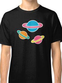 Pink Planets Pattern Classic T-Shirt