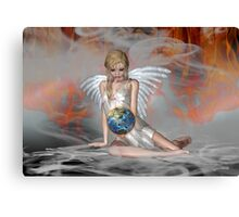 An Angel Weeps Canvas Print
