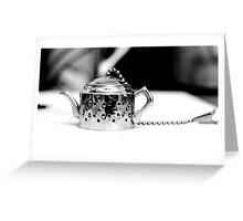 Tea infuser 2 - BW Greeting Card