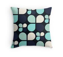 Blue Daisy - Flower Pattern Throw Pillow