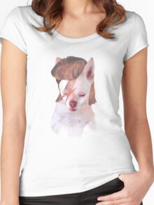 Ziggy Stardust Chihuahua Women's Fitted Scoop T-Shirt