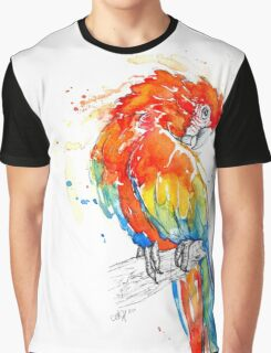 Wild Scarlet Macaw Graphic T-Shirt