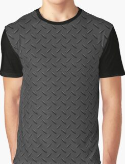 Metal - charcoal checker plate  Graphic T-Shirt