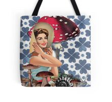 Debra in mushroom land  Tote Bag