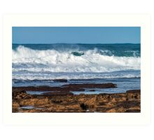 Portuguese Atlantic coast Art Print