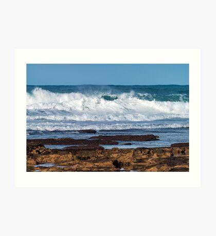 Portuguese Atlantic coast Art Print