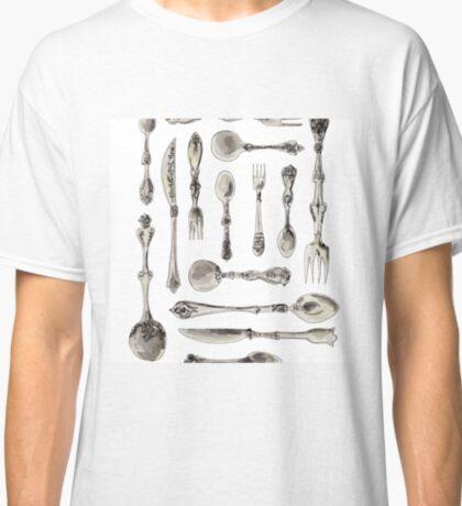 Watercolor Silverware Classic T-Shirt