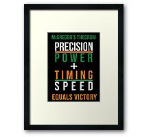 Conor McGregor's Theorem - UFC Framed Print