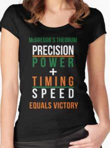 Conor McGregor's Theorem - UFC Women's Fitted Scoop T-Shirt