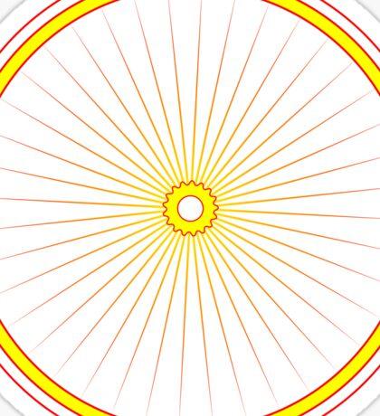 Bike spoke sun Sticker