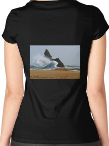 Sea, Rock,Sand.Philosophical erosion.. Women's Fitted Scoop T-Shirt