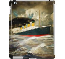 A digital painting of RMS Titanic iPad Case/Skin