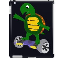 Cool Funny Turtle on Hoverboard Art iPad Case/Skin
