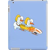 Snowmen's bobsleigh iPad Case/Skin