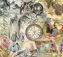 Cheshire Cat Alice in Wonderland  by antiqueart