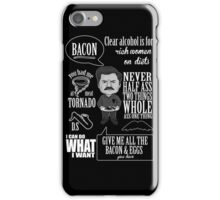 Ron Swanson Montage  iPhone Case/Skin