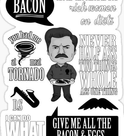 Ron Swanson Montage  Sticker