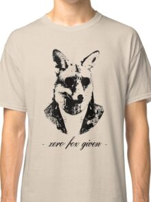 Zero fox given black Classic T-Shirt