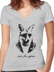Zero fox given black Women's Fitted V-Neck T-Shirt