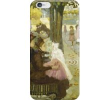 Maurice Brazil Prendergast  THE LUXEMBOURG GARDEN, PARIS iPhone Case/Skin