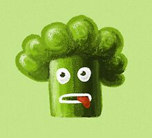 Stressed Out Funny Broccoli by Boriana Giormova