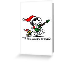 Snoopy Rock X mas Greeting Card