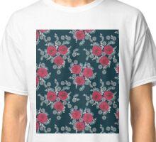 Chrysanthemum // navy red white by andrea lauren  Classic T-Shirt