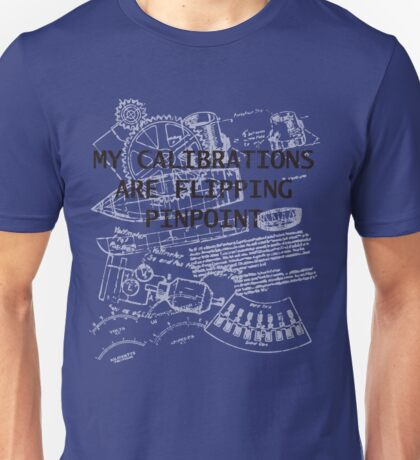 My Calculations are Flipping Pinpoint Unisex T-Shirt
