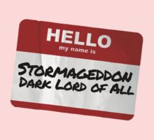 Hello My Name Is Stormageddon One Piece - Short Sleeve