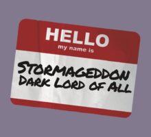 Hello My Name Is Stormageddon Kids Tee